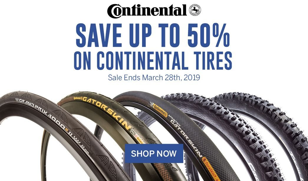 Save up to 50 on Continental Tires
