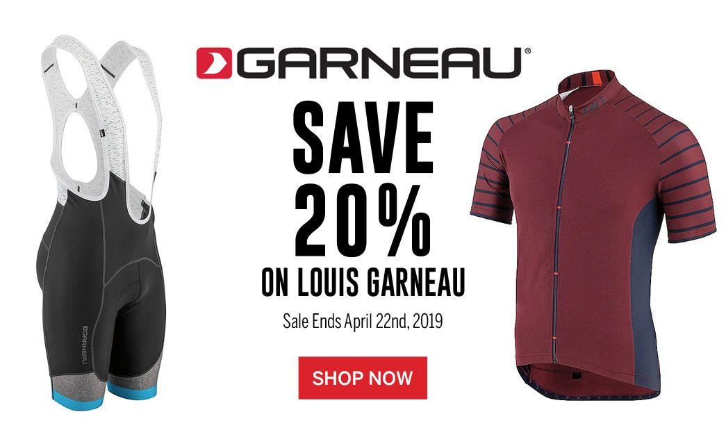 Save 20 on Louis Garneau Apparel