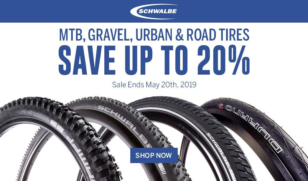 Saveup to 20 on Schwalbe Tires