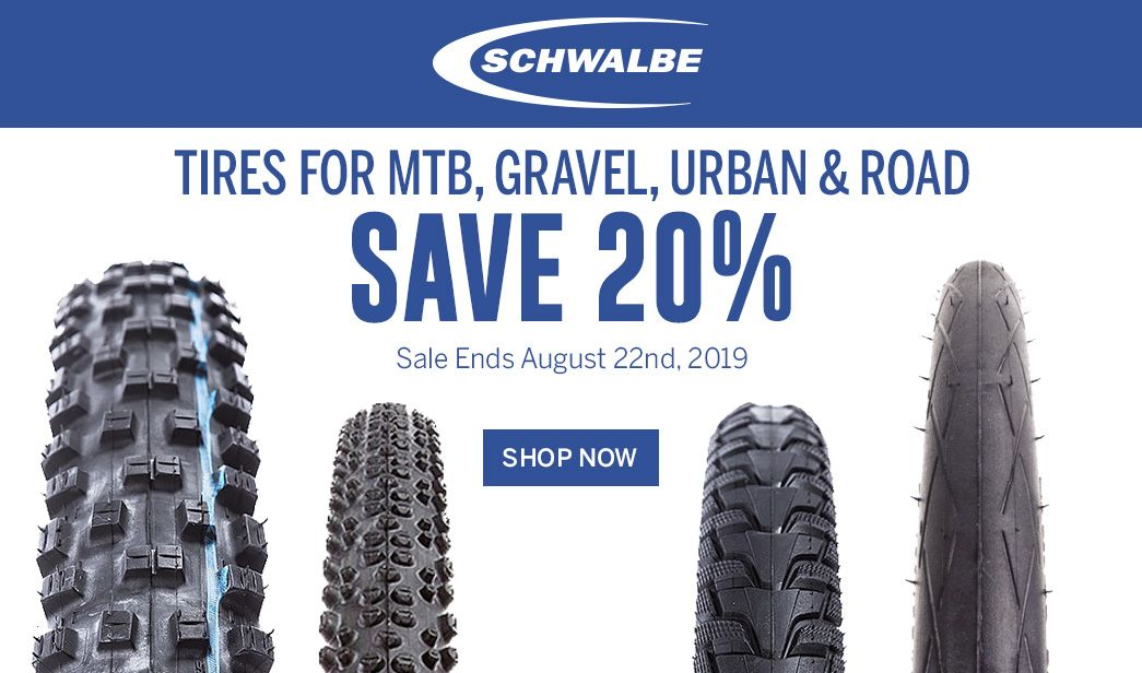 Save 20 on Schwalbe Tires