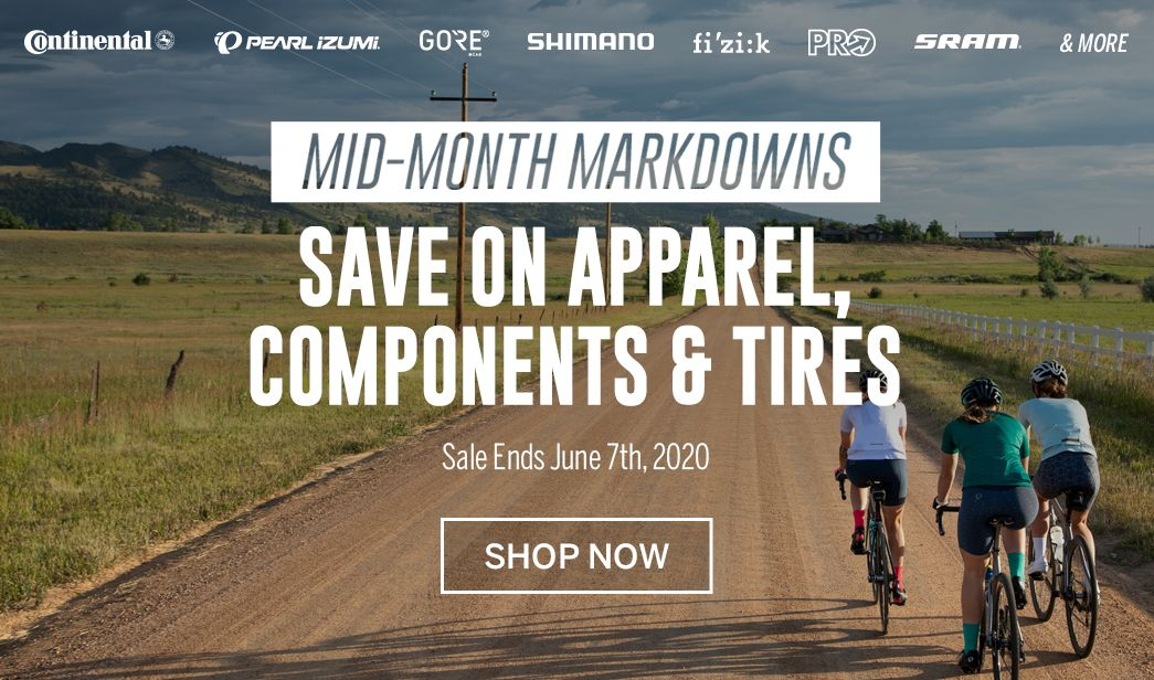 Save on mid-month markdowns at BikeTiresDirect