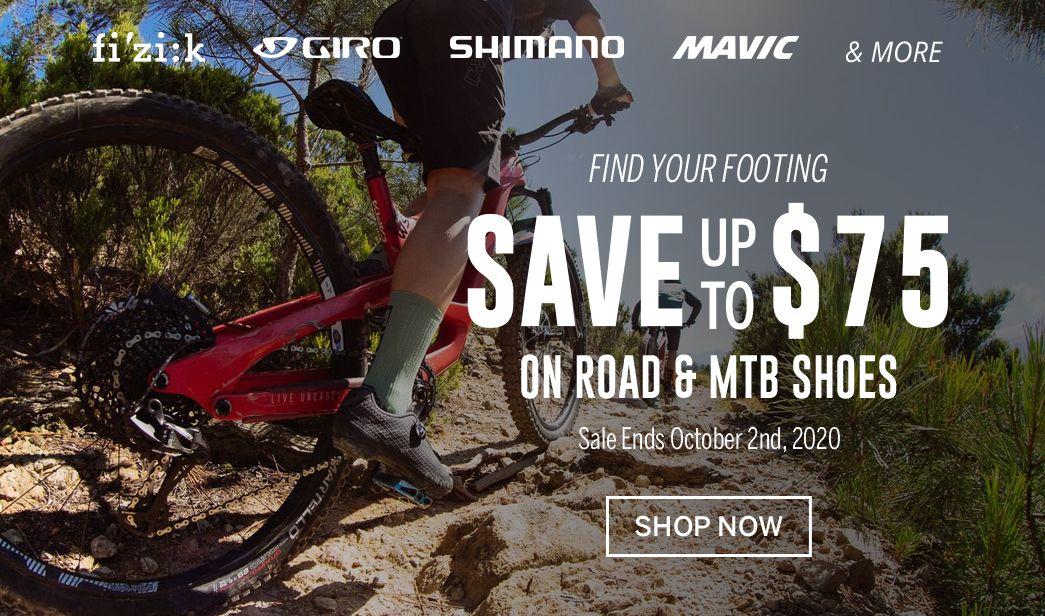 Save on bike shoes at BikeTiresDirect