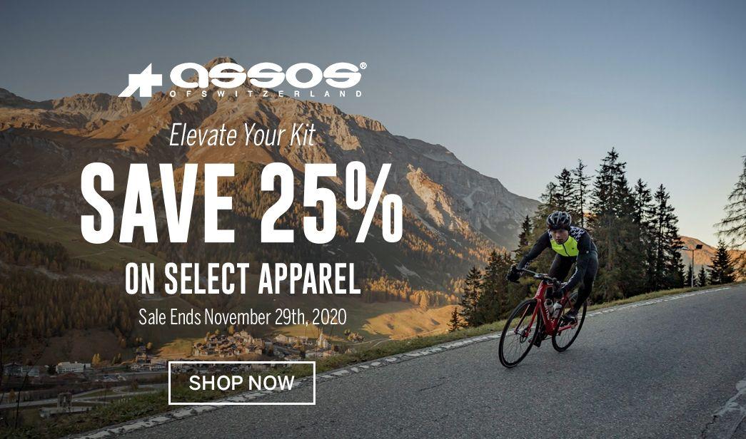 Save on select ASSOS cycling apparel
