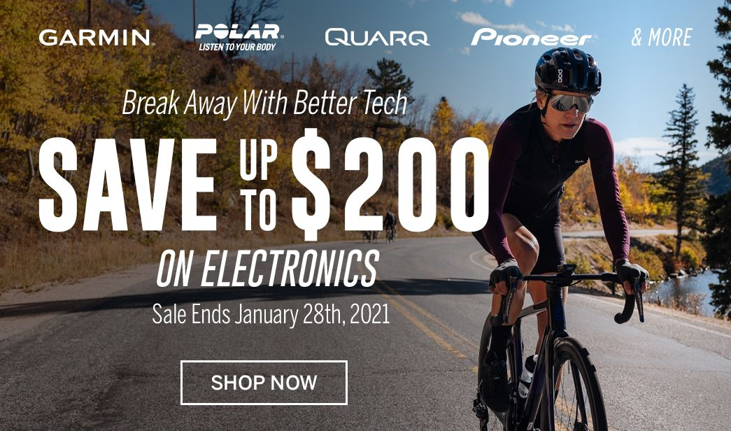 Save on electronics for cyclists