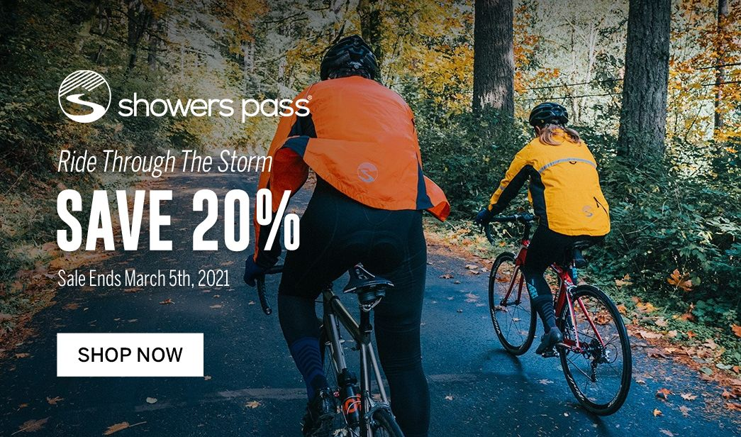 Save on Showers Pass cycling apparel